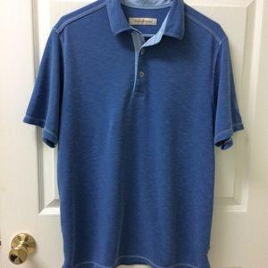 Tommy Bahama Sz M Blue polo Shirt